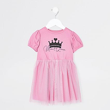 Mini girls t-shirt tulle dress