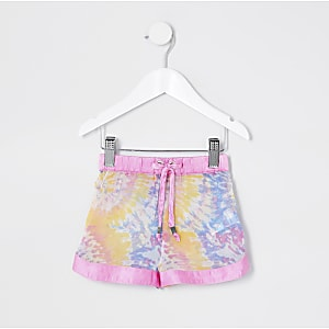 Mini girls tie dye beach short