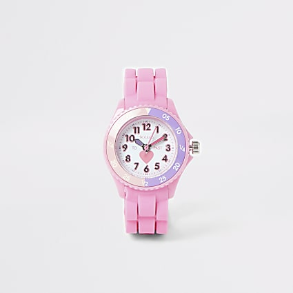 Mini girls Tikkers pink time teacher watch