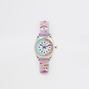 Tikkers – Montre Time Teacher violette Mini fille