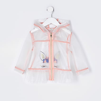 Mini girls unicorn rain jacket