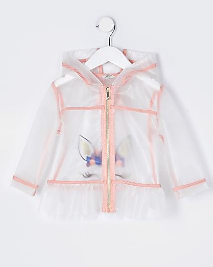 Mini girls unicorn rain jacket
