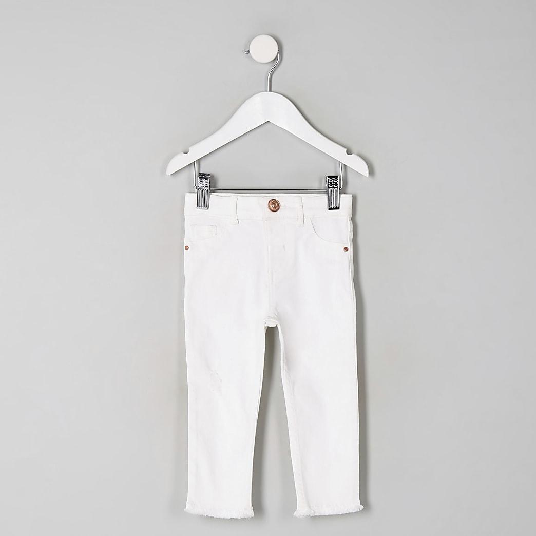 """Mini – Weiße Jeggings """"Molly"""" für Mädchen"""