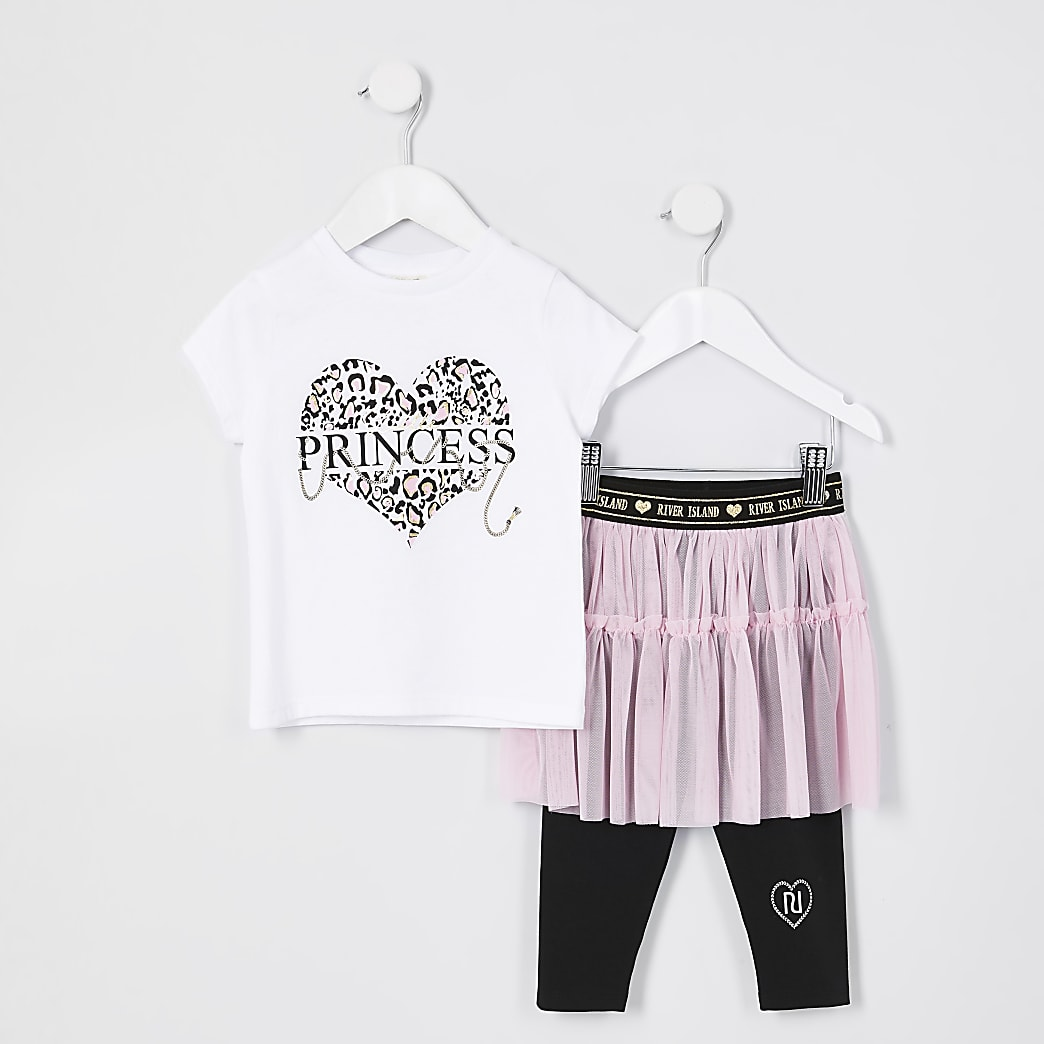 Mini girls white 'Princess' tutu outfit