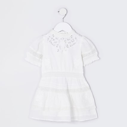 Mini girls white RI little ultimate dress