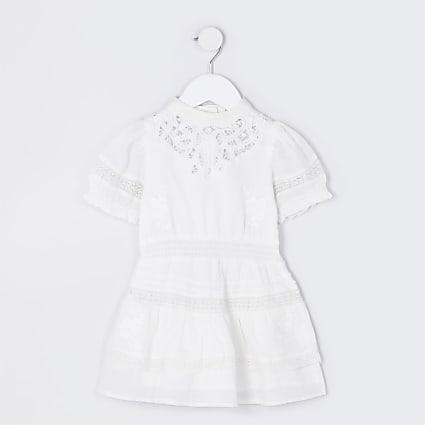 Mini girls white RI little ultimate dress