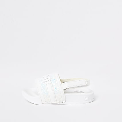 Mini girls white RI sliders