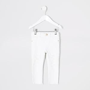 Mini – Molly – Weiße Jeggings im Used-Look für Mädchen