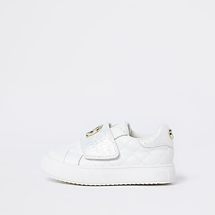 Mini girls white RIR plimsoles