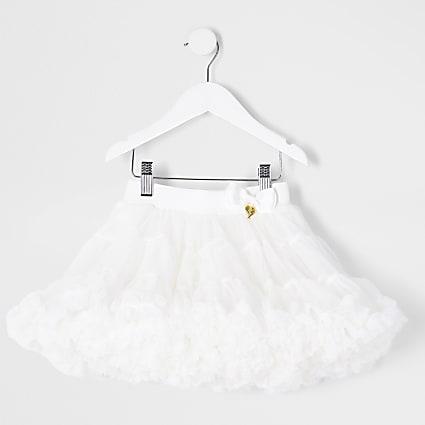 Mini girls white tutu skirt