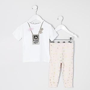 "Mini – Weißer Pyjama mit ""VIP""-Print"