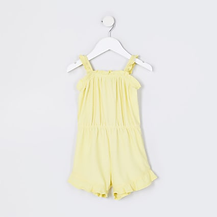 Mini girls yellow playsuit