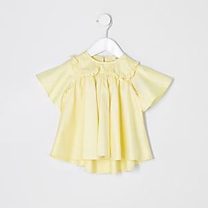Mini - Gele poplin top voor meisjes