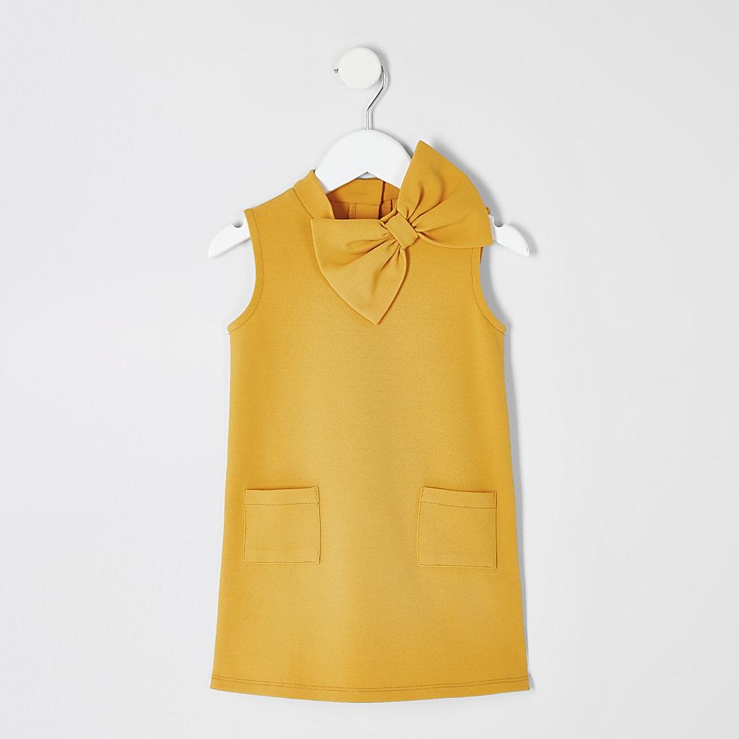 Mini girls yellow shift dress