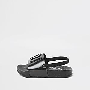 Mini - Zwarte jelly RI-slippers voor kinderen