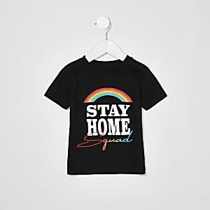 Mini - Liefdadigheids-T-shirt met 'Stay Home Squad'-tekst voor kinderen