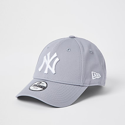 Mini kids grey New Era NY cap