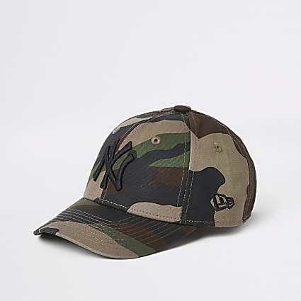 Mini Kids New Era khaki camo cap