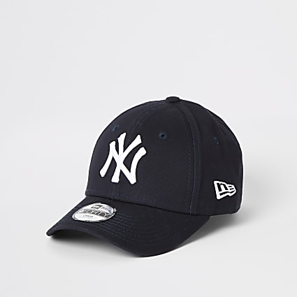 Mini kids New Era NY navy curved peak cap