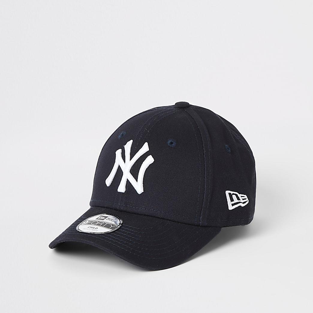 Mini kids New Era NY navy curved peak cap
