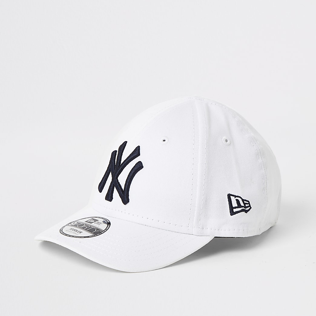 Mini kids white New Era NY cap