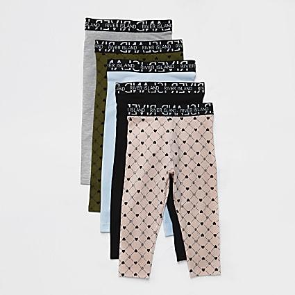 Mini pink 5 Pack Leggings