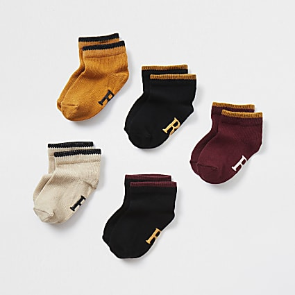 Mini red RI trainer socks