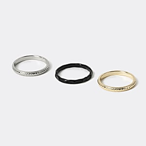 Mixed colour ring 3 pack