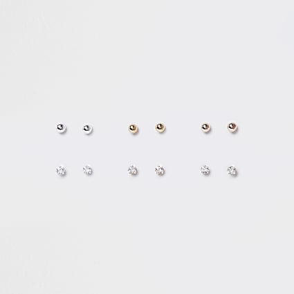 Mixed Crystal Stud earring multipack