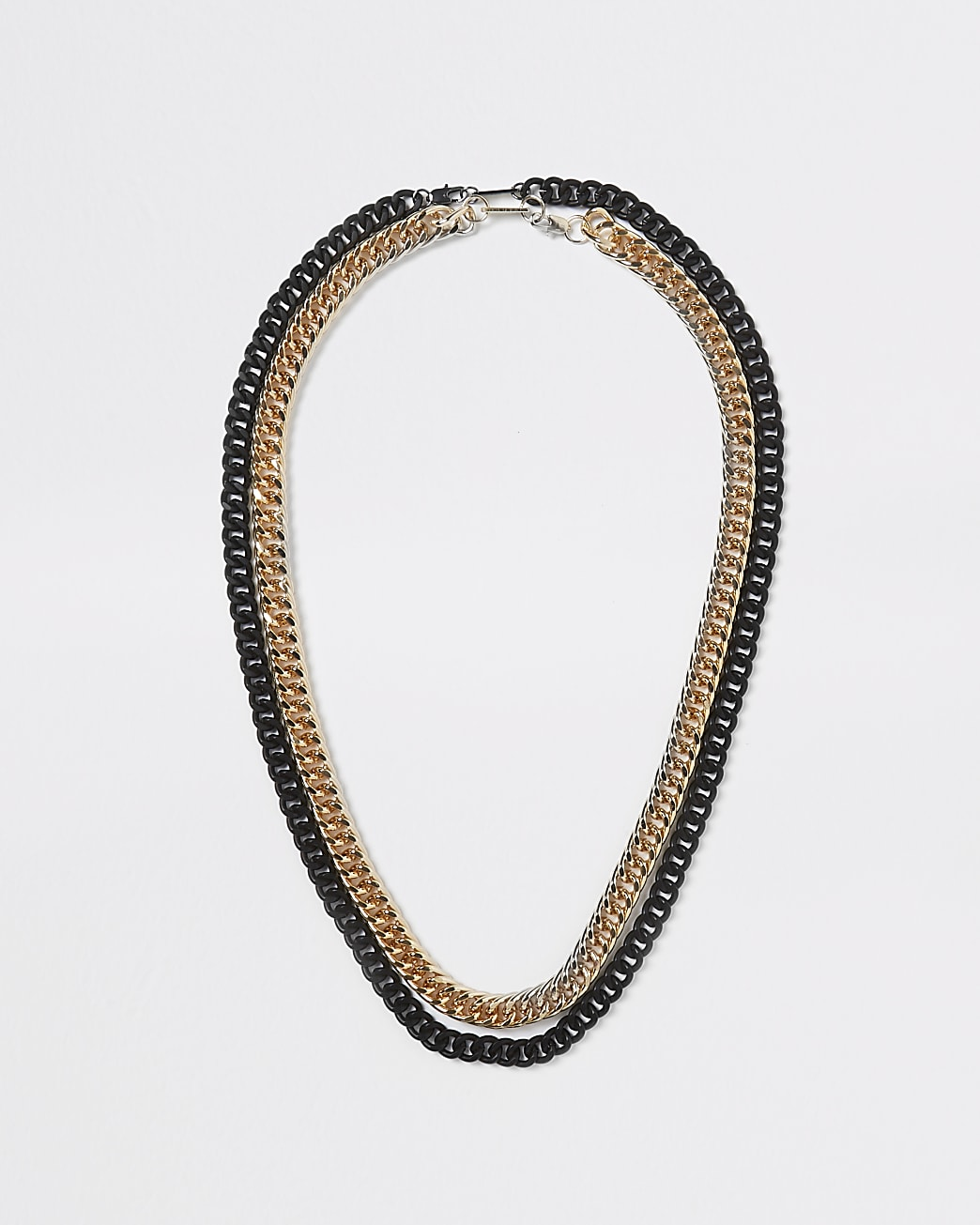 Mixed multi chain necklace
