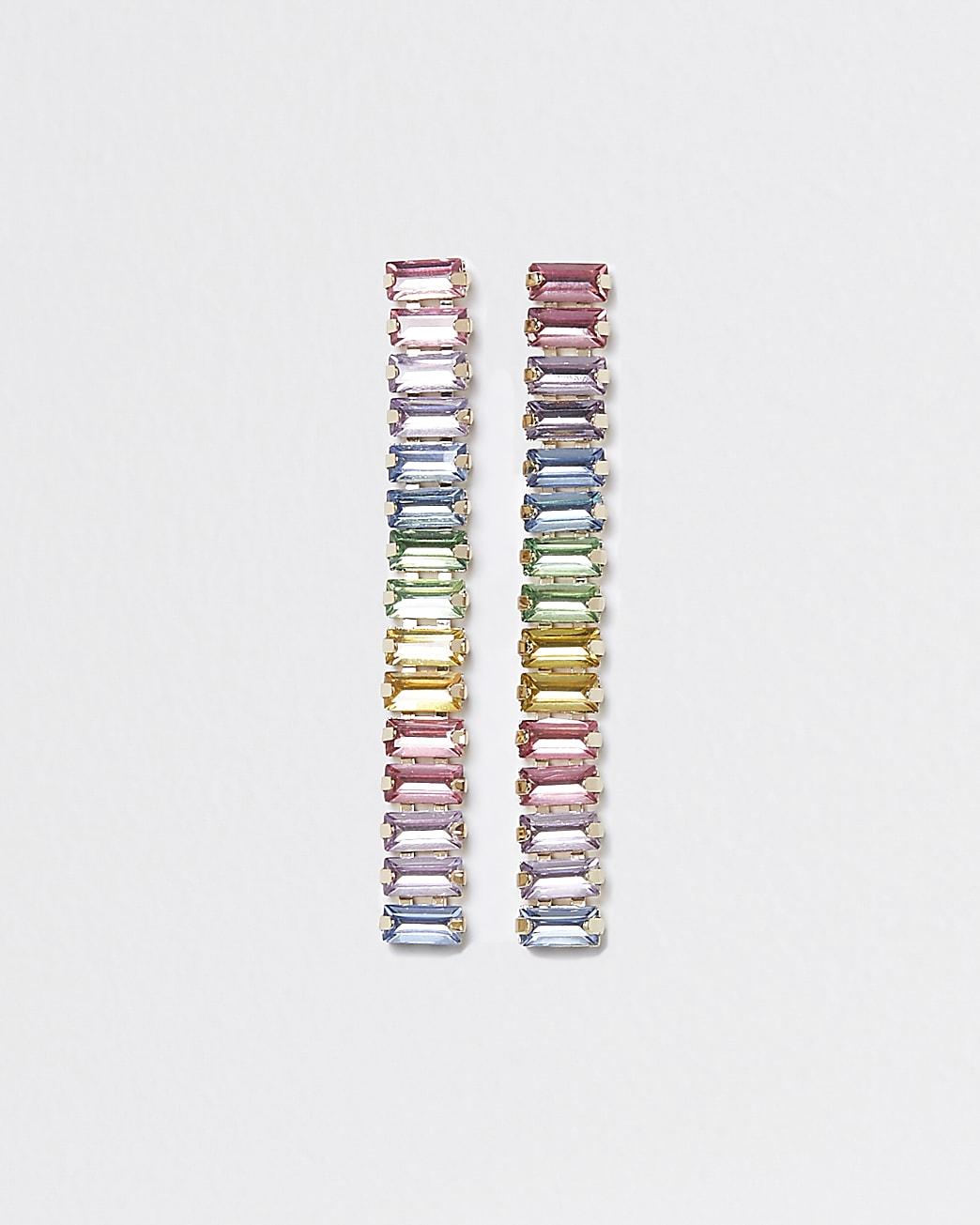 Multi coloured drop earrings