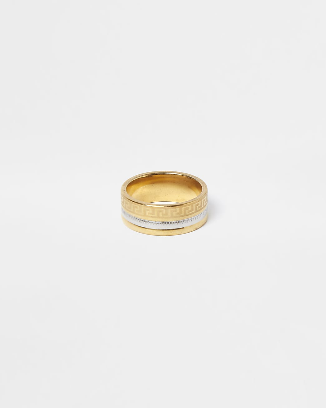 Multi stainless steel Roman band ring
