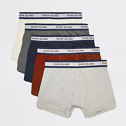 Multicoloured RI waistband trunk 5 pack