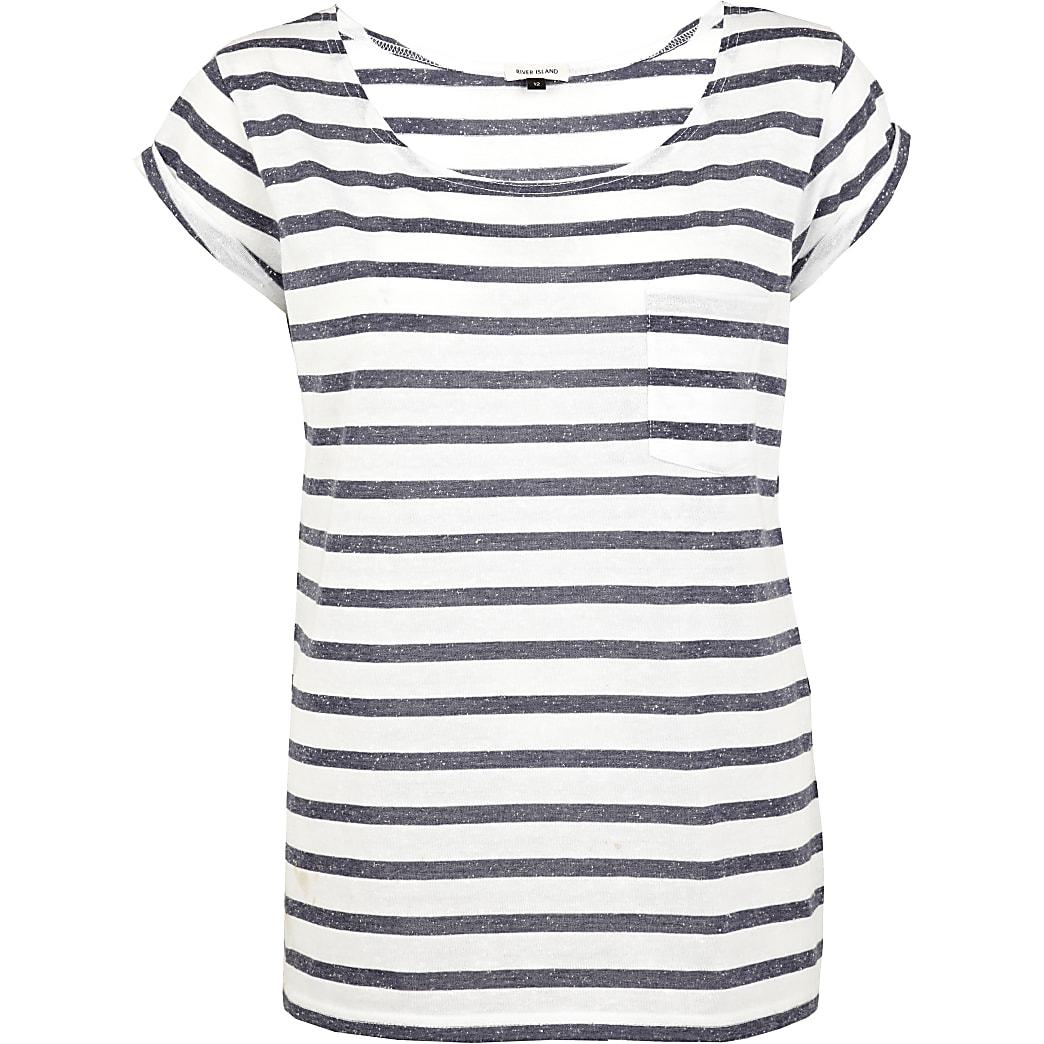 Navy and white Breton stripe t-shirt