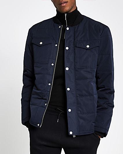 Navy bomber puffer jacket