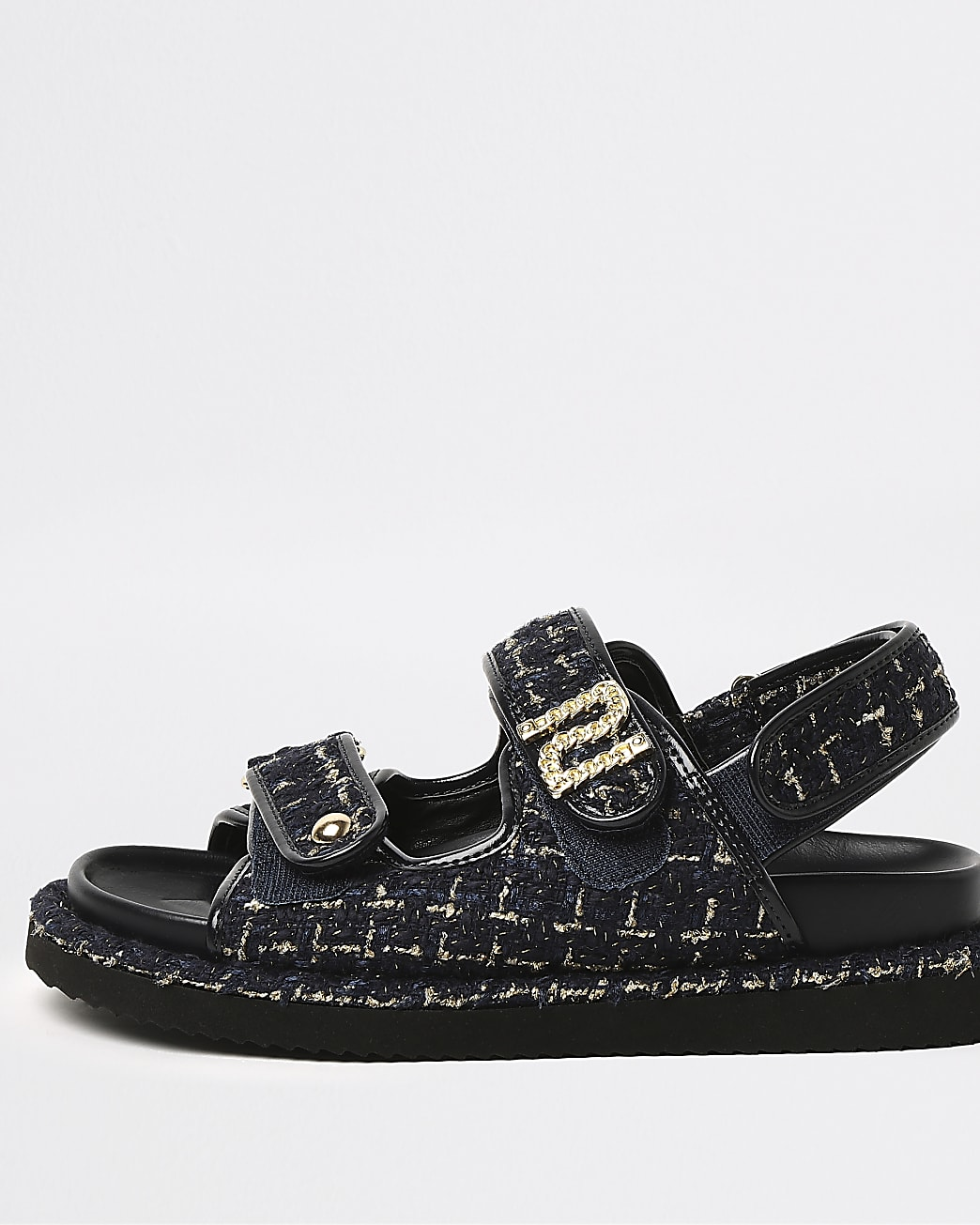 Navy boucle RI sandals