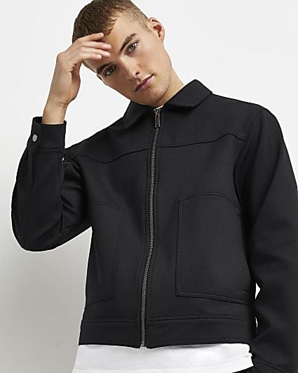 Navy boxy fit worker jacket