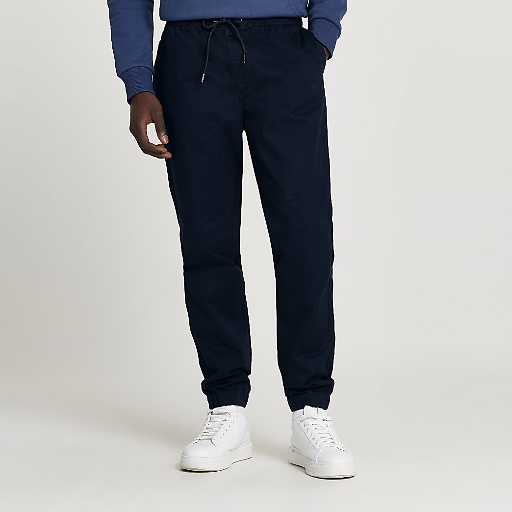 Navy casual slim fit chinos