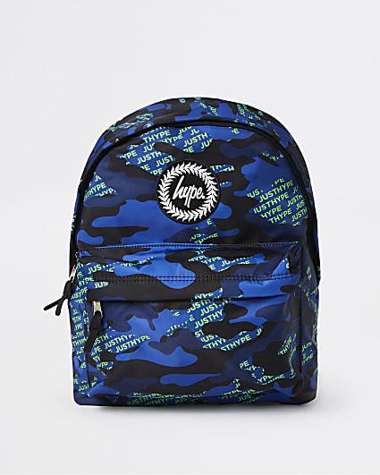 Navy Hype camo print backpack