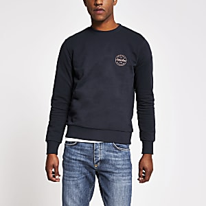 Jack & Jones – Marineblaues Sweatshirt