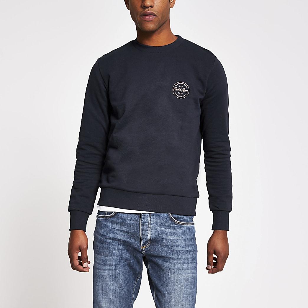 Jack and Jones - Marineblauwe sweater