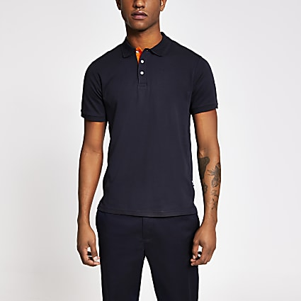 Navy Only and Sons Polo T-Shirt