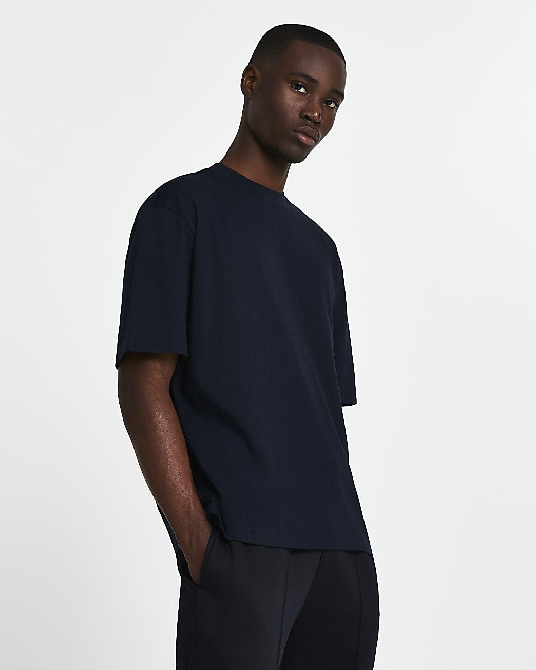 Navy oversized short sleeve t-shirt