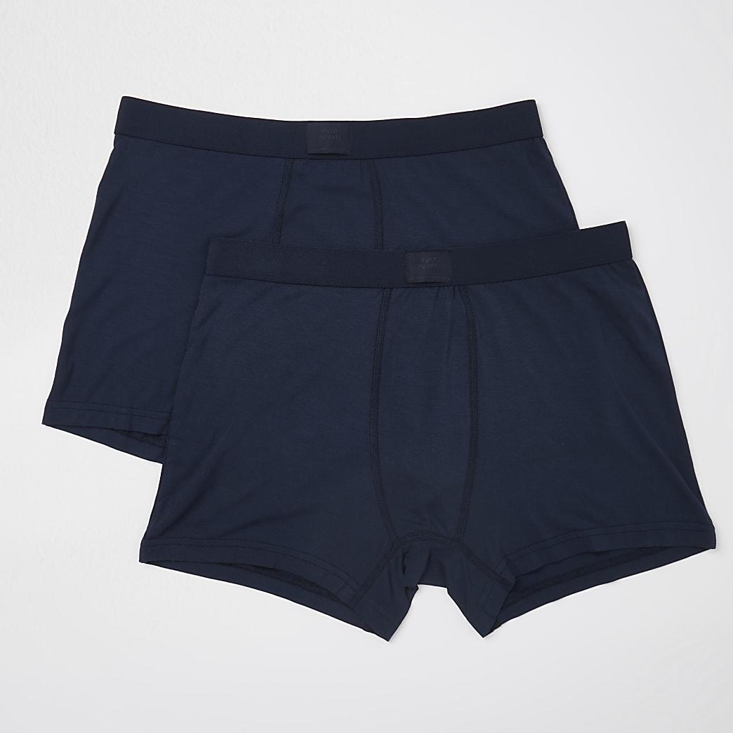 Navy premium essentials trunks 2 pack