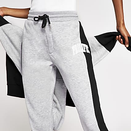Navy Prolific colour block joggers