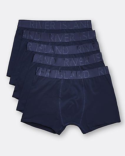Navy RI branded trunks 5 pack