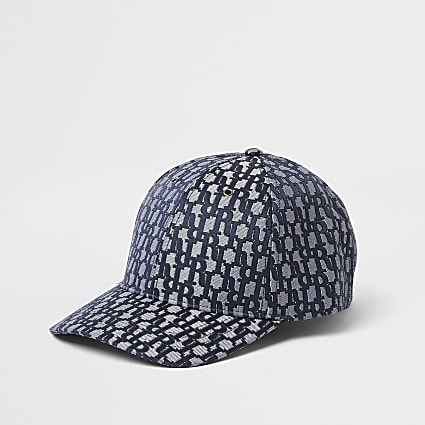 Navy RI monogram baseball cap