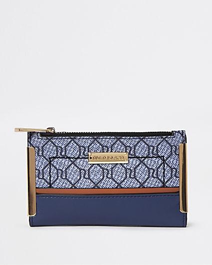 Navy RI monogram purse