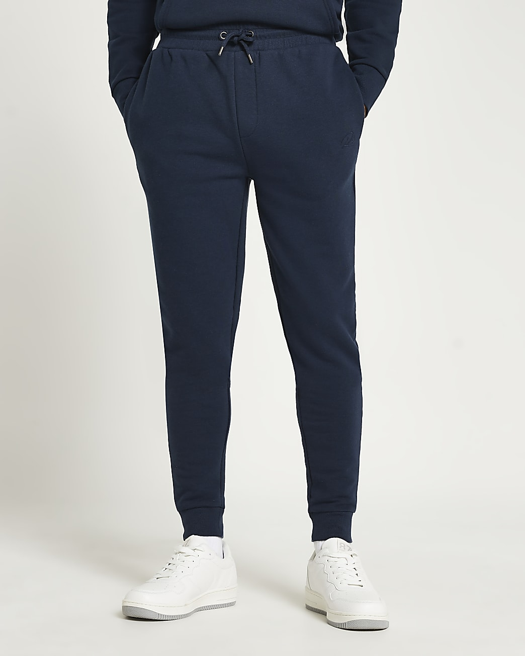 Navy RI muscle fit joggers