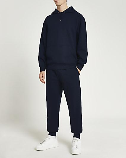 Navy RI regular fit hoodie